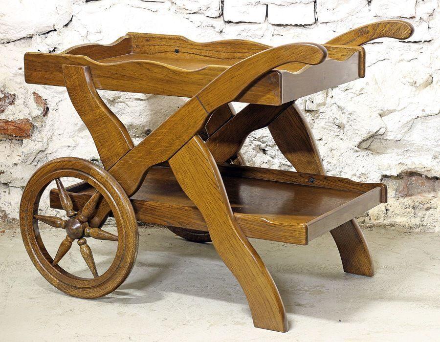 Деревянные колеса для сервировочного столика своими руками